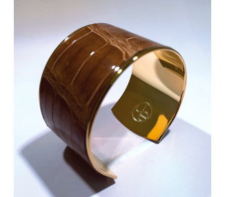 Aimée cuff. Ebony color