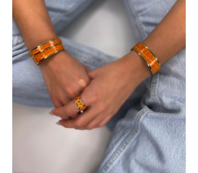 Aimée cuff. Tangerine color