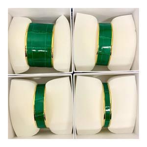 Precious crocodile 🐊 #empreintenomade #cuff #exoticleather #crocodile #green #gold #minimalistjewelry #design